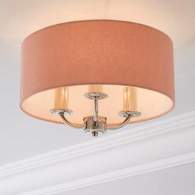 Preston Anitque Brass Flush Ceiling Fitting