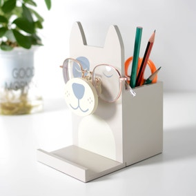 Wooden Glasses Holder Dog