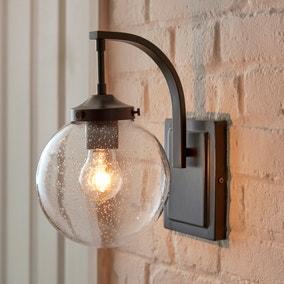 Twain Outdoor 17cm Globe Glass Wall Light