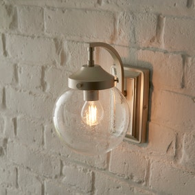 Twain Outdoor 14cm Globe Glass Wall Light