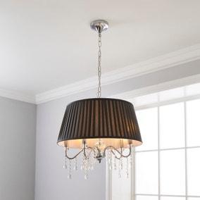 Dorma Genevieve 5 Light Grey Ceiling Fitting