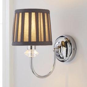 Dorma Genevieve Grey Wall Light
