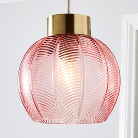 Colleen Pink Glass Easy Fit Pendant
