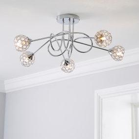 Portia 5 Light Ceiling Fitting