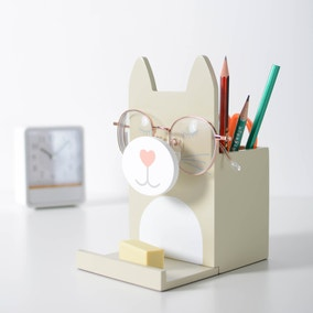 Wooden Glasses Holder Cat