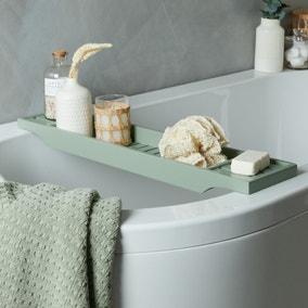 Sage Green Bamboo Bath Rack