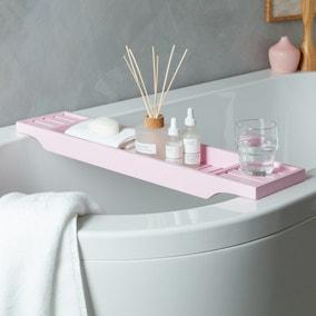 Blush Bamboo Bath Rack