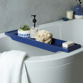 Navy Bamboo Bath Rack