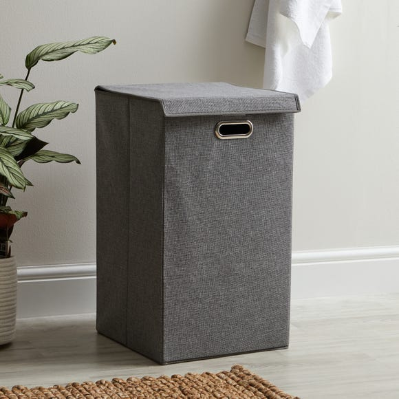 Collapsible Laundry Basket Light Grey
