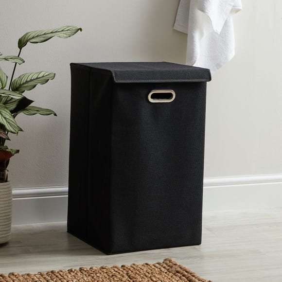 Collapsible Laundry Basket Black