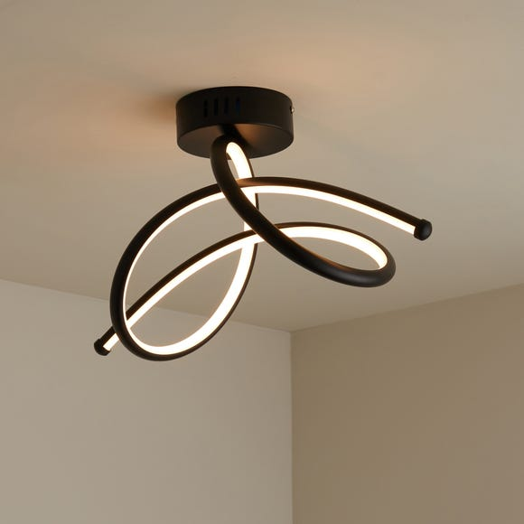 Berlin Dimmable LED Ceiling Fitting Black