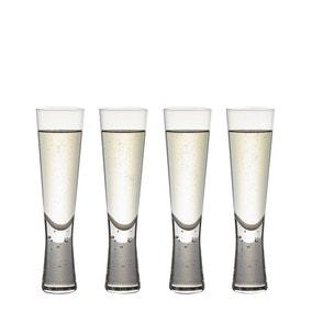Set of 4 Hotel Bubble Stem Flute Glasses