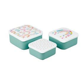 Set of 3 Rainbow Snack Boxes