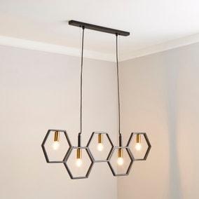 Hexa 5 Light Ceiling Fitting