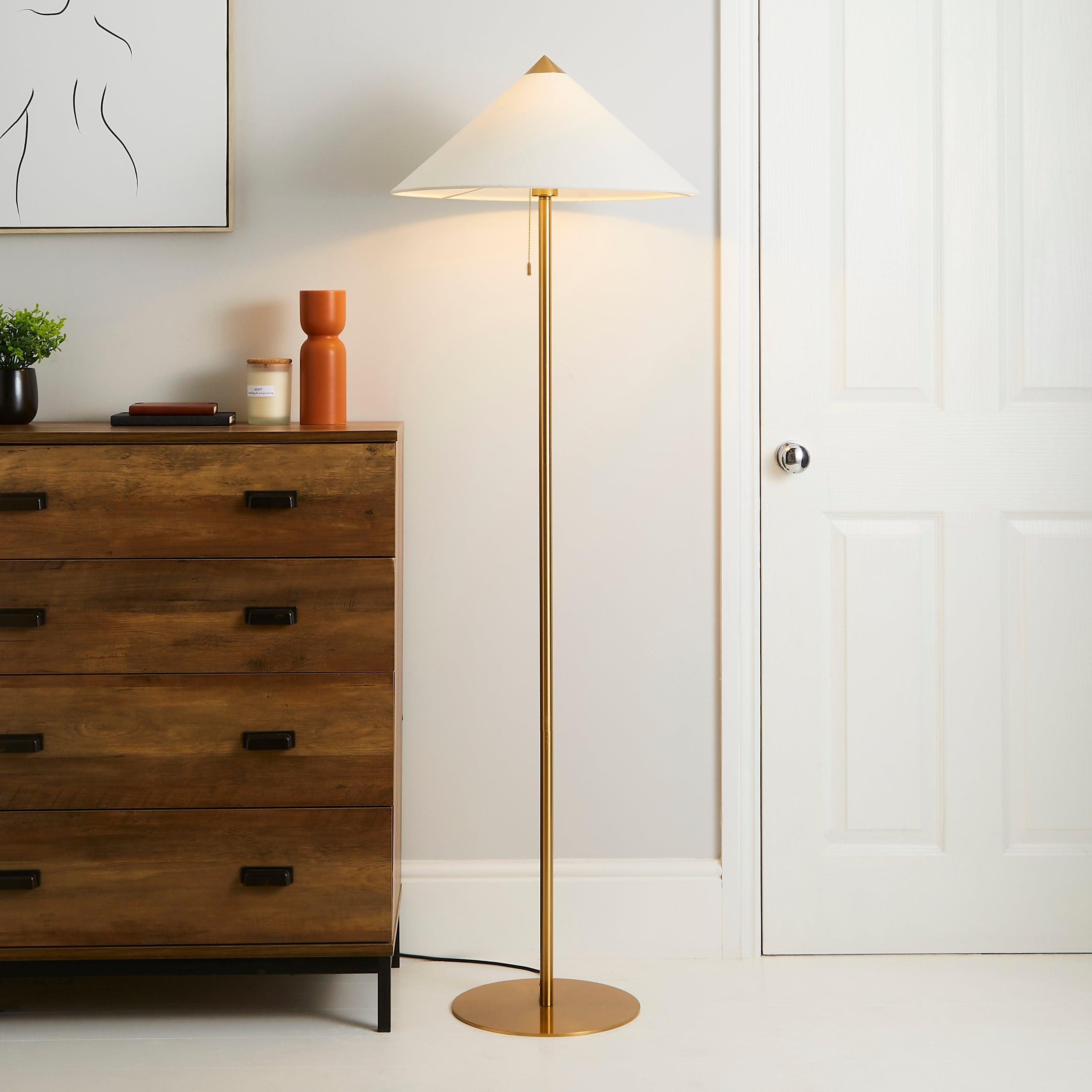 Kyoto Floor Lamp Brass
