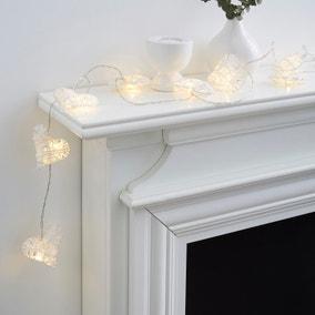 Wicker Hearts String Lights
