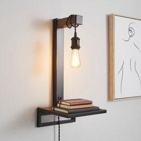 Fulton Easy Fit Plug In Shelf Wall Light