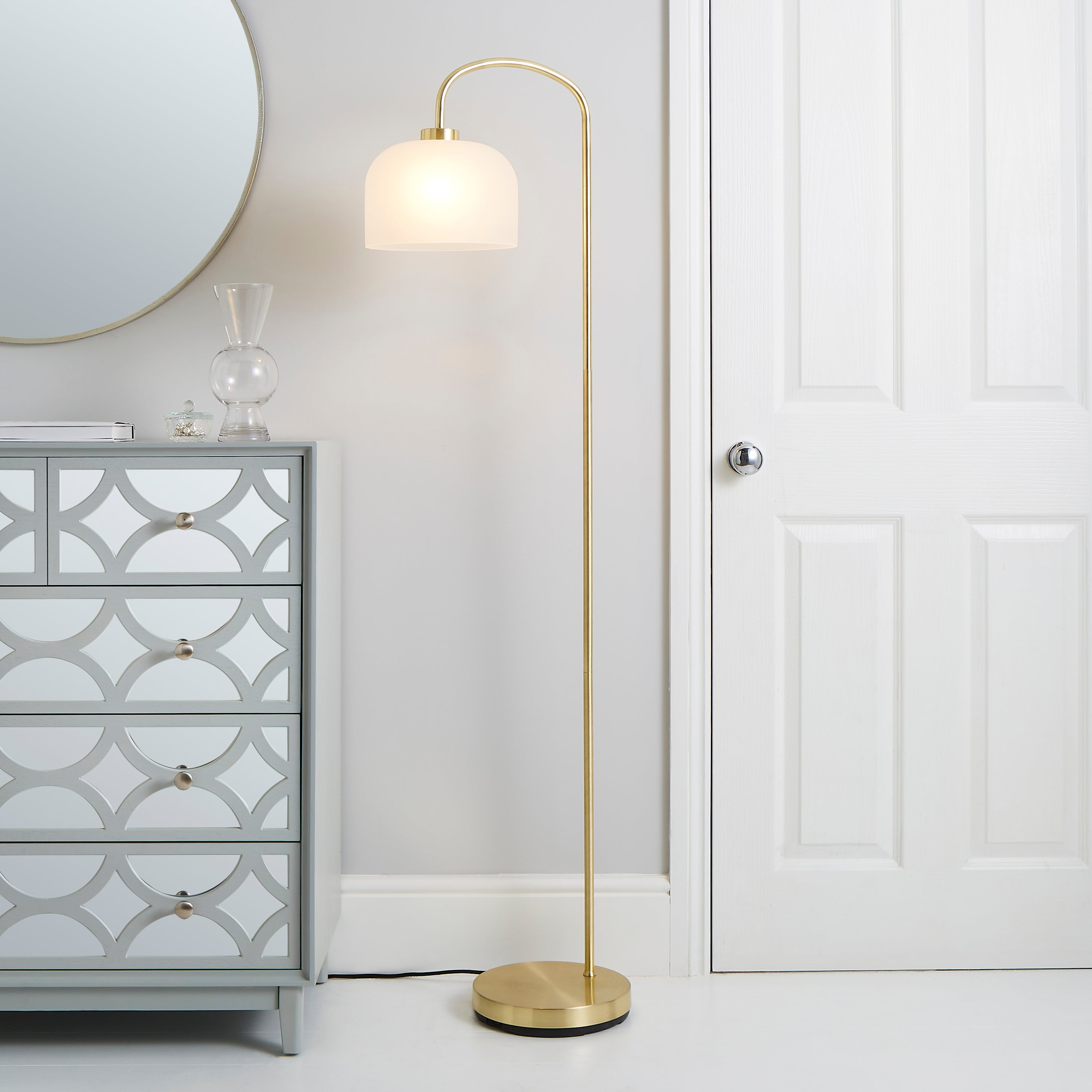 Palazzo Gold Effect Floor Lamp Gold