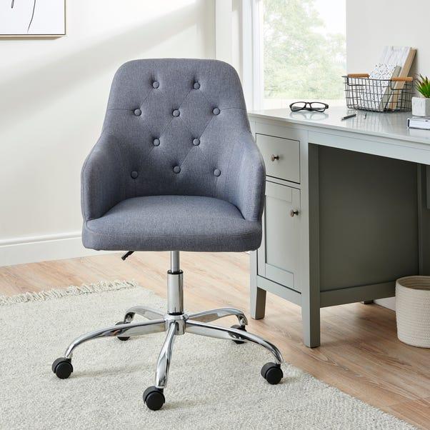 Ashleigh Button Back Grey Office Chair Grey