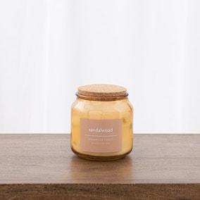 Sandlewood Jar Candle with Cork Lid