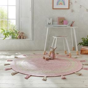 Cotton Tassel Circle Rug