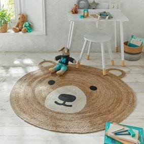 Jute Bear Circle Rug