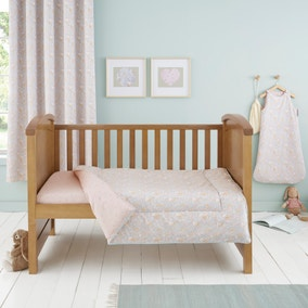 Ditsy Bunny Pink 4 Tog Cot Bed Quilt