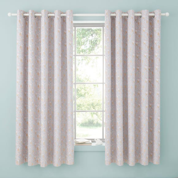 Ditsy Bunny Pink Blackout Eyelet Curtains  undefined
