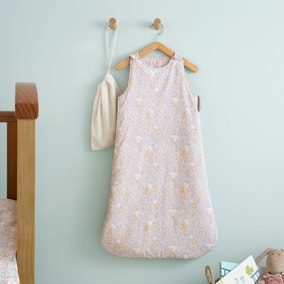 Ditsy Bunny Pink 100% Cotton 2.5 Tog Sleep Bag