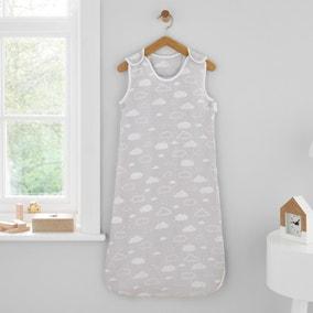 Jersey Clouds Grey 100% Cotton 2.5 Tog Sleep Bag