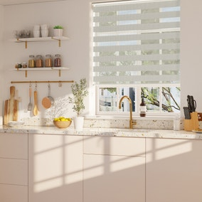 Day and Night Dove Grey Daylight Roller Blind