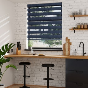 Day and Night Navy Daylight Roller Blind