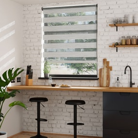 Stria Day and Night Grey Roller Blind