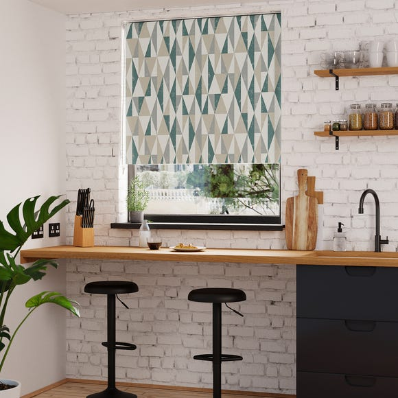 Triangle Peacock Blackout Roller Blind  undefined