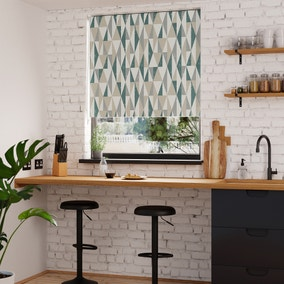 Triangle Peacock Blackout Roller Blind