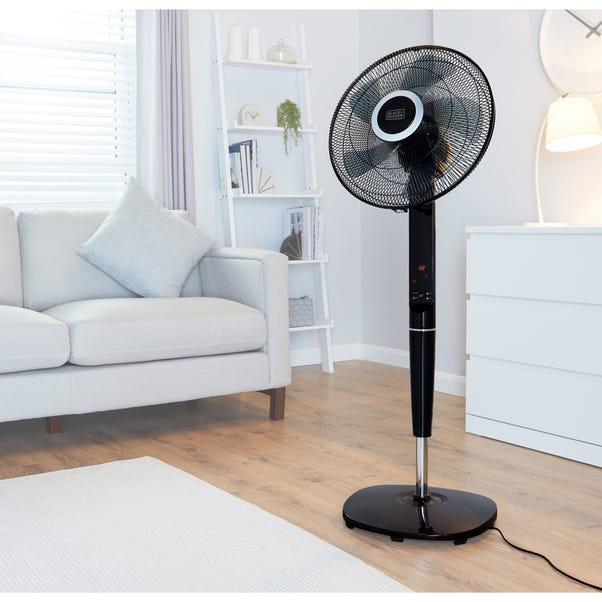 Pedestal Fan with Figure 8 Oscillation and Timer Black