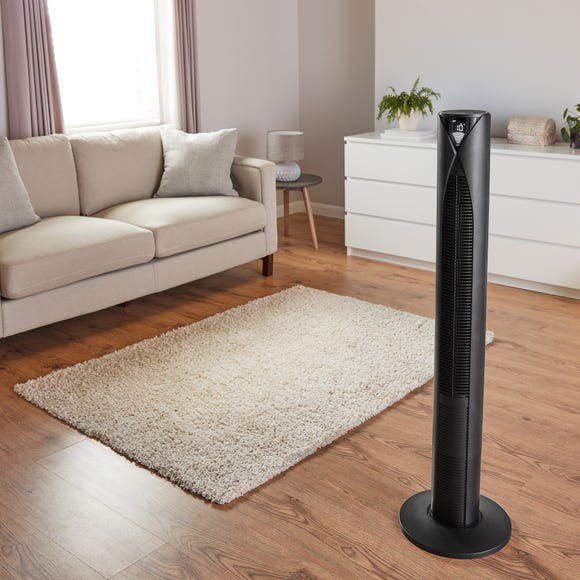 Digital Tower Fan with 12 Hour Timer Black