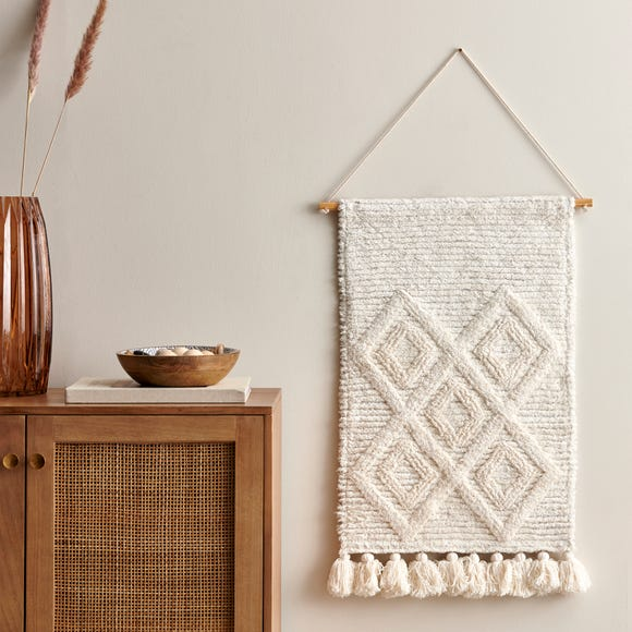 Extra Large Inca Tufted Wall Hanging Cream