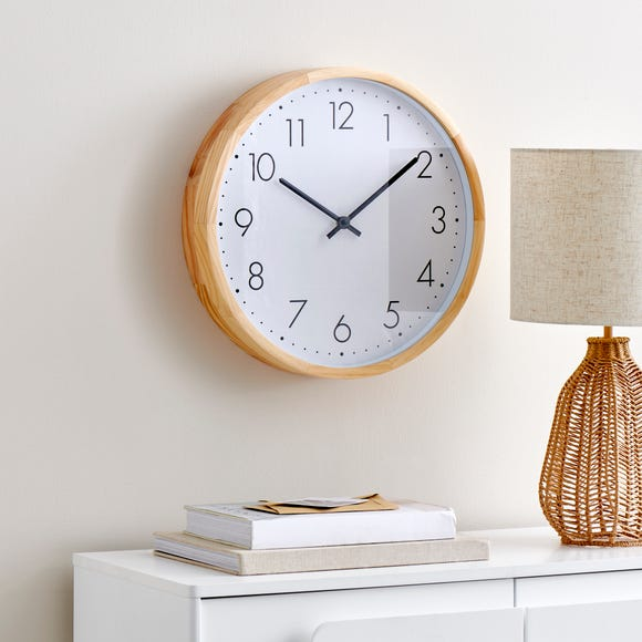 Wooden Silent Clock Wood (Brown) undefined