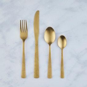 Zen Gold Effect 16 Piece Cutlery Set