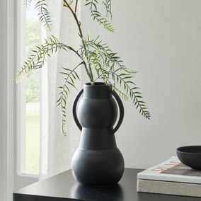 Matt Black 23cm Vase