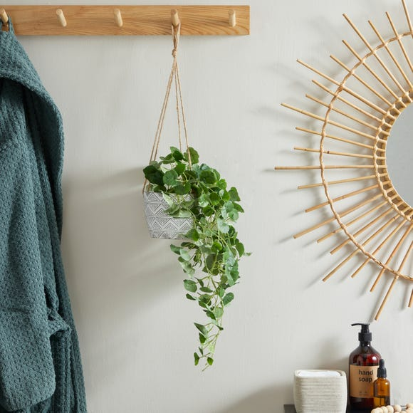 Hanging Plant Geo Pot 30cm Grey