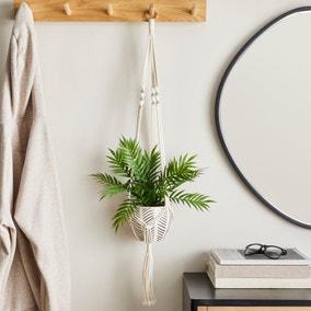 Hanging Ceramic Pot with Macrame