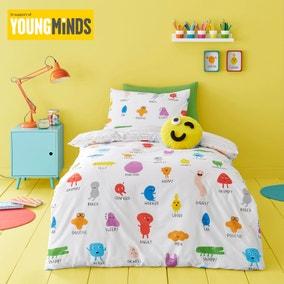 Choose Your Happy 100% Cotton Reversible Duvet Cover and Pillowcase Set