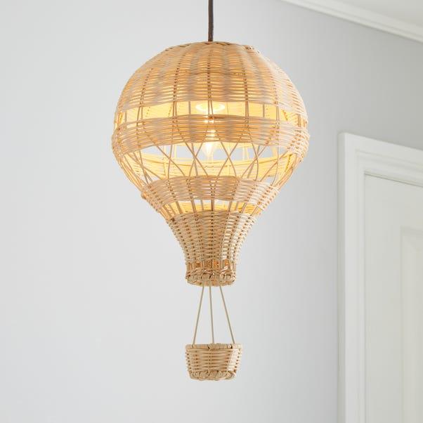 Hot Air Balloon Rattan Easy Fit Pendant, Hot Air Balloon Lampshade