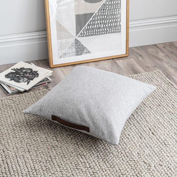 Luna Grey Floor Cushion Grey undefined