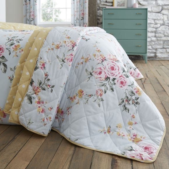Catherine Lansfield Canterbury Duck Egg Bedspread Duck Egg (Blue)