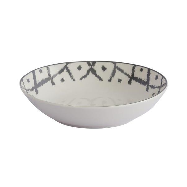 Ikat Pasta Bowl Grey
