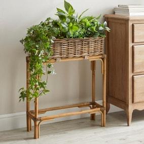 Churchgate Rattan Planter Box with Stand