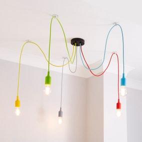 Rainbow Flex 5 Light Spider Ceiling Fitting